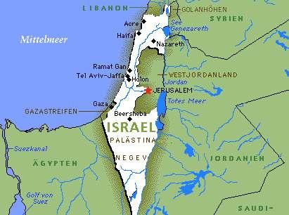 Israel Jerusalem Karte.Archiv Zum Israel Palaestina Konflikt